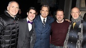 The Glee star strikes a pose with co-star Beau Bridges, producers Craig Zadan and Neil Meron and director Rob Ashford.