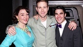 Cameron Adams (Kathy), Christopher J. Hanke (Bud) and Darren Criss (Finch) pose together for the last time.