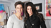 Priscilla star Nick Adams welcomes Kirstie Alley to his zebra-licious dressing room.