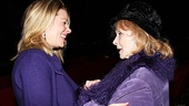 The meeting of the Margaret Whites: Piper Laurie congratulates Marin Mazzie on her performance  in Carrie.