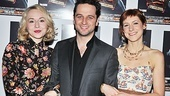 Sarah Goldberg, Matthew Rhys and Charlotte Parry create a dysfunctional love triangle onstage, but they're inseparable pals on opening night.