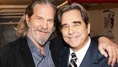 Jeff and Beau Bridges take a family photo backstage at the Al Hirschfeld Theatre.