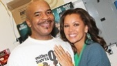 Vanessa Williams congratulates David Alan Grier on his performance as the devlish Sporting Life in Porgy and Bess.