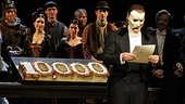 Phantom headliner Hugh Panaro reads a touching letter from director Hal Prince.