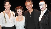 Actors Fund Chairman of the Board (and Broadway vet) Brian Stokes Mitchell strikes a pose with Broadway's everlasting love triangle.