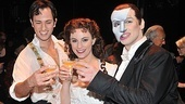 Cheers! Kyle Barisich, Trista Moldovan and Hugh Panaro propose a toast to 10,000 more shows!