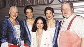 Priscilla stars Tony Sheldon, Will Swenson, Nick Adams and Adam LeFevre welcome pop icon Gloria Estefan.