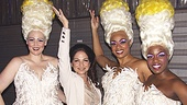 1-2-3-4! We just want to keep on counting as Gloria Estefan shows off her moves with Priscilla divas Lisa Howard, Jacqueline B. Arnold and Anastacia McCleskey.