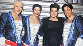 Priscilla stars Tony Sheldon, Nick Adams and Will Swenson share guyliner tips with former Wicked and American Idol star Adam Lambert.