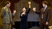 Michael Cumpsty as Anthony, Tracie Bennett as Judy Garland and Tom Pelphrey as Mickey in End of the Rainbow.