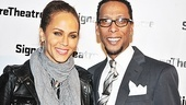 Soon-to-be Broadway star Nicole Ari Parker (A Streetcar Named Desire) strikes a pose with her friend, Hurt Village star Ron Cephas Jones.