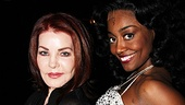 Priscilla Presley perfects her disco diva style with Sister Act star Patina Miller.