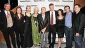 Playwright Edward Albee takes a company photo with The Lady From Dubuque stars Peter Francis James, Catherine Curtin, Laila Robins, Jane Alexander, C.J. Wilson, Tricia Paoluccio, Thomas Jay Ryan and Michael Hayden.