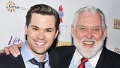 "After nailing ""The Music That Makes Me Dance"" from Funny Girl, Andrew Rannells showed of his million dollar Mormon smile with Backwards co-star Jim Brochu."