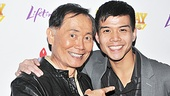 TV star George Takei was happy to support a good cause and his co-star in the musical Allegiance, Telly Leung.