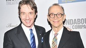 Gala host Martin Short and Anything Goes star Joel Grey are all smiles on Marshall's big night.