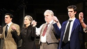 The Loman family (Finn Wittrock, Linda Emond, Philip Seymour Hoffman and Andrew Garfield) are greeted with a standing ovation.