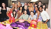 The entire Priscilla company gathers for a sweet birthday snapshot. Congratulations to all!