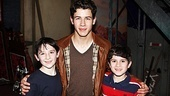Newsies - Nick Jonas Visit  Matthew Schecter - Nick Jonas  Lewis Grosso