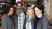 Audra McDonald and Norm Lewis show off their Broadway home to Kelli O'Hara and Matthew Broderick.