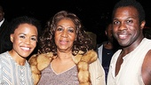 Aretha had to meet Nikki Renee Daniels and Joshua Henry, who sing 