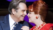 Beau Bridges as J.B. Biggley and Tammy Blanchard as Hedy La Rue in How to Succeed in Business Without Really Trying.