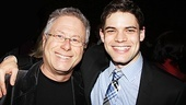 Jeremy Jordan comes in close for a photo with composer Alan Menken.