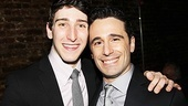 Newsies star Ben Fankhauser comes in close with choreographer Christopher Gattelli, who gives Fankhauser all of his newsboy moves!