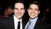 Company manager Eduardo Castro and Jeremy Jordan relax after a hard night on the job.
