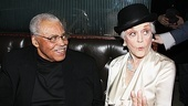 Ooh-la-la! Angela Lansbury looks glamorous in James Earl Jones opening night hat.