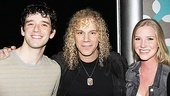 Michael Urie (who plays mischievous Bud Frump in the hit revival) hangs out with rocker-turned-Tony winner David Bryan and his daughter Gabby.