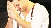 Sexy star Ricky Martin is grateful to be back on Broadway.
