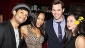 Smash star Jaime Cepero hangs out in a Cabaret-style bowler hat with Nikki M. James and Andrew Rannells of The Book of Mormon and actress Amy Birnbaum.