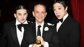 Grey is honored that Anything Goes castmates Robert Creighton and Raymond J. Lee are paying tribute to the Emcee on his 80th birthday.