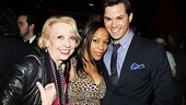 Anything Goes star Julie Halston hangs out with two Book of Mormon stars: Tony winner Nikki M. James and Andrew Rannells.