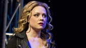 Kendra Kassebaum as Sam, Raul Esparza as Jonas Nightingale and  Jessica Phillips as Marla in Leap of Faith.