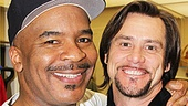 Two of our favorite funnymen, David Alan Grier and Jim Carrey, share a happy reunion more than 20 years after co-starring in TVs In Living Color.