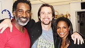 Jim Carrey congratulates Porgy and Bess title stars Norm Lewis and Audra McDonald.