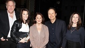 SNL husband and wife writing team Alan and Robin Zweibel join Linda Lavin, Billy Crystal and his producer wife, Janice, backstage at The Lyons.