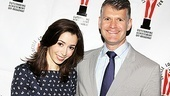 Once star Cristin Milioti smiles with Lortel Foundation Executive Director George Forbes. With seven nominations, Once is the most nominated show of the year!