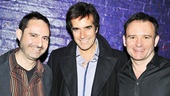 David Copperfield congratulates his friend Paul Kieve and director Matthew Warchus on the amazing illusions in Ghost.