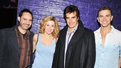 Ghost illusions designer Paul Kieve and show stars Caissie Levy and Richard Fleeshman welcome David Copperfield to the Lunt-Fontanne Theatre.