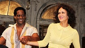 After delivering powerful performances as Streetcar's iconic Stanley and Blanche, Blair Underwood and Nicole Ari Parker beam for their appreciative audience.