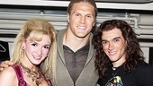 Rock of Ages stars Emily Padgett and Justin Matthew Sargent have Nothing But a Good Time with football star Clay Matthews.