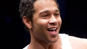 Corbin Bleu as Jesus in Godspell.