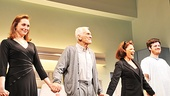 Broadway officially welcomes the Lyons family: Kate Jennings Grant, Dick Latessa, Linda Lavin and Michael Esper.