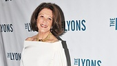 Linda Lavin greets the press after her triumphant return to Broadway. (Check out those shoes!)