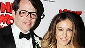 Matthew Broderick is proud to have his wife Sarah Jessica Parker and son James Wilkie by his side on opening night.