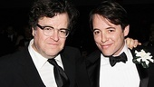 Kenneth Lonergan, playwright and director of off-Broadway's forthcoming Medieval Play, is on hand to support his childhood pal Matthew Broderick.