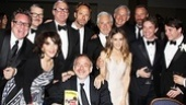 Matthew Broderick shares a laugh with his fan club, including Jonathan Freeman, Scott Wittman, Jeffrey Richman, Victor Garber, Rainer Andreesen, Martin Short, Sarah Jessica Parker, Marc Shaiman and Andrea Martin.
